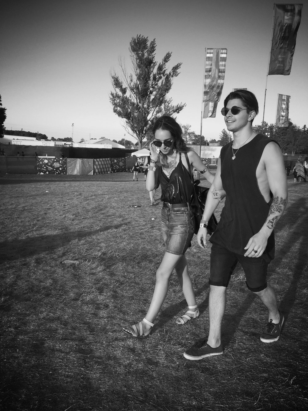 Literally one of the only photos we have together...which needs to change! Shot at Wayhome Festival 2016. Guess what, we were even named best-dressed!