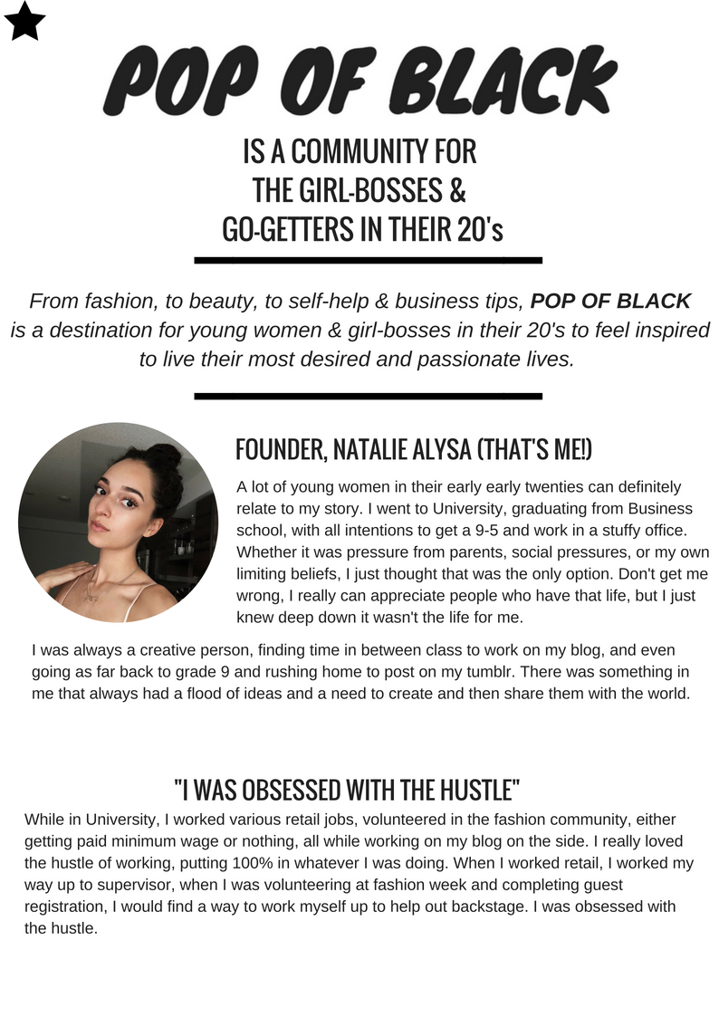 lifestyle blog natalie alysa pop of black